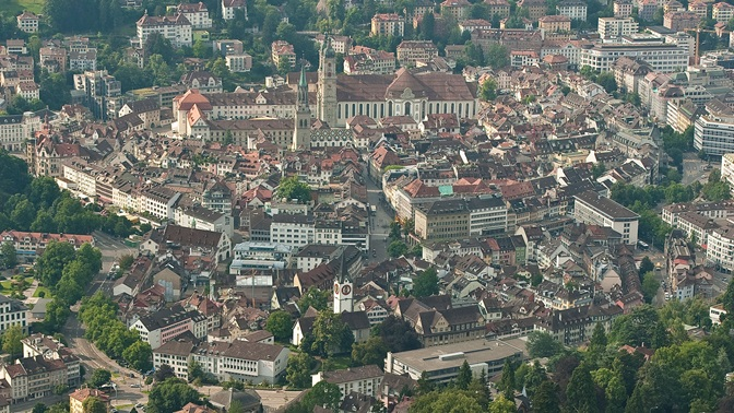 View on the city St.Gallen