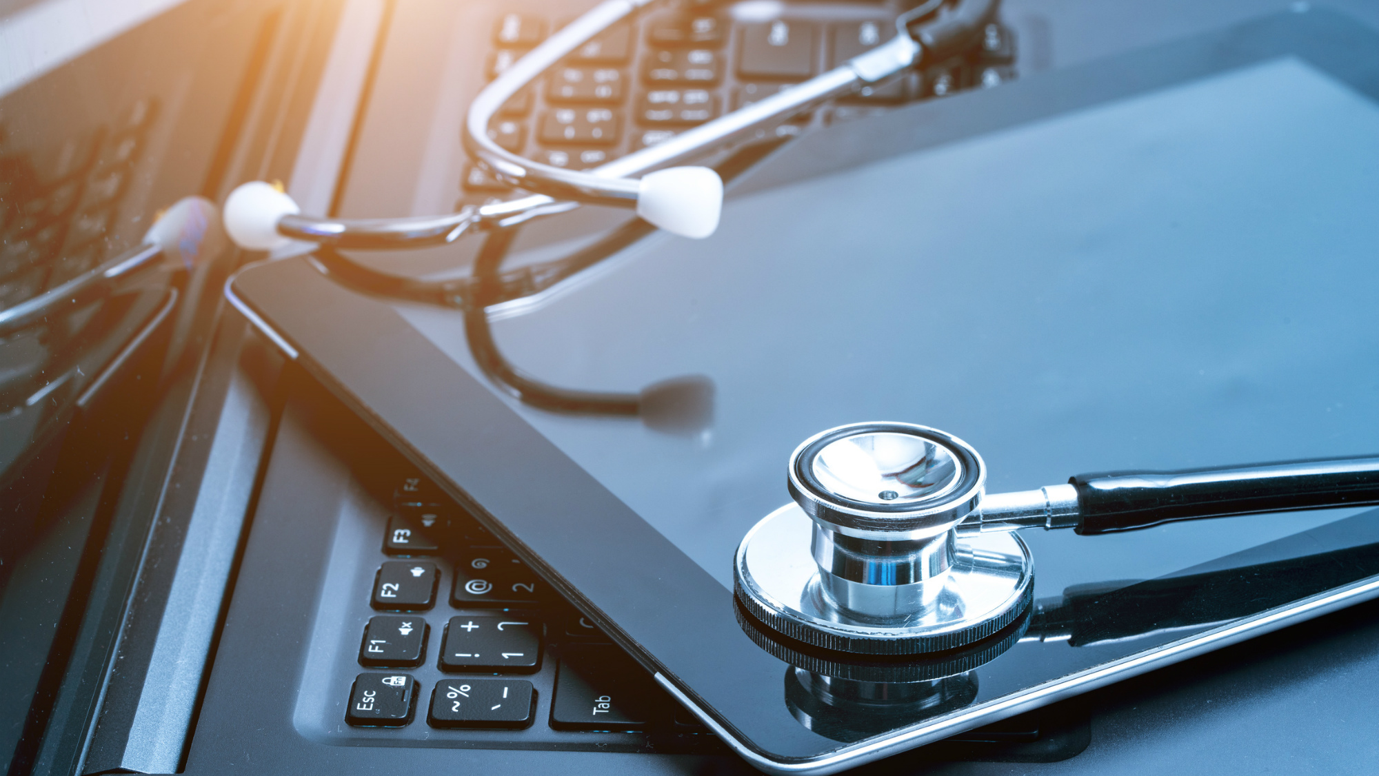 Joint Medical Master, Laptop and stethoscope