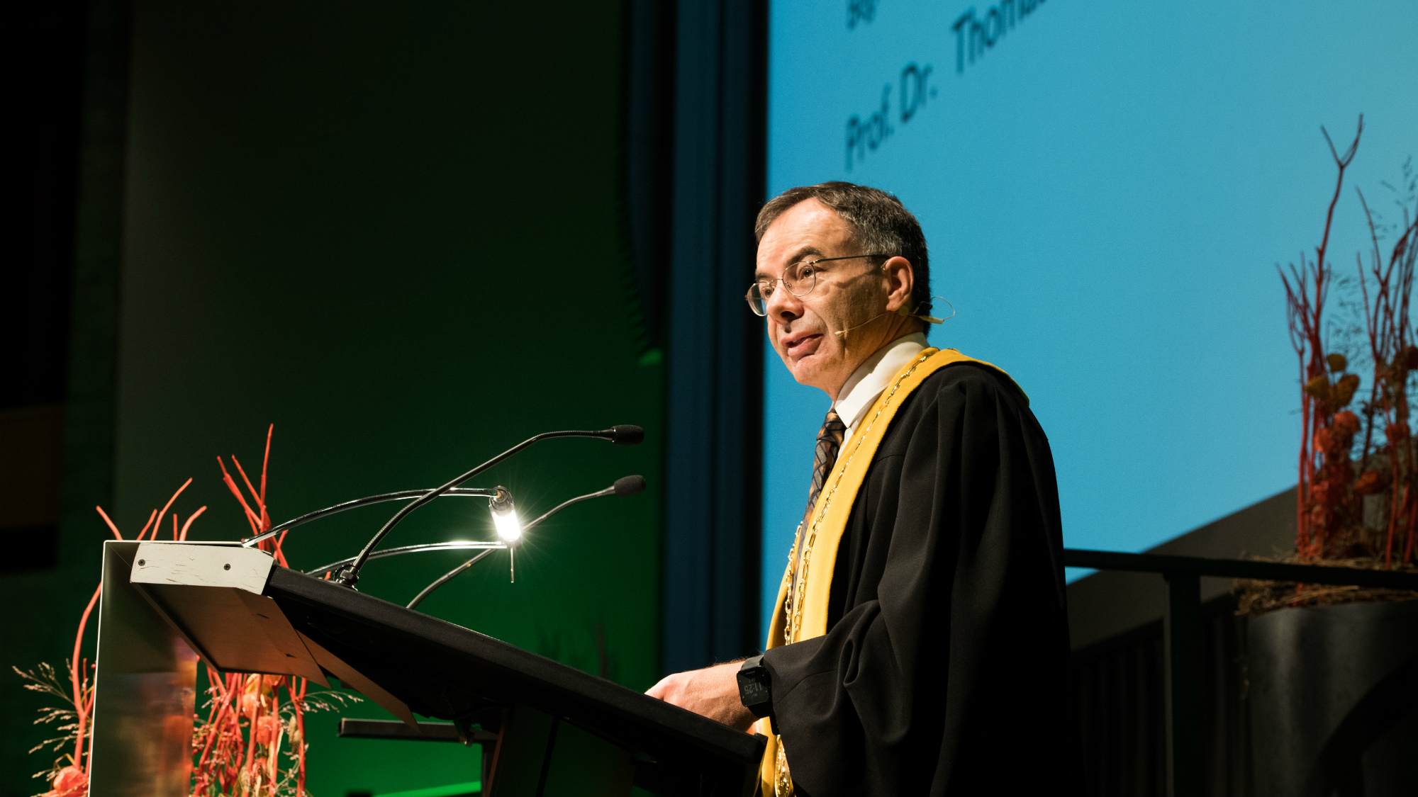 HSG President Thomas Bieger at the Master Graduation Day autumn 2017
