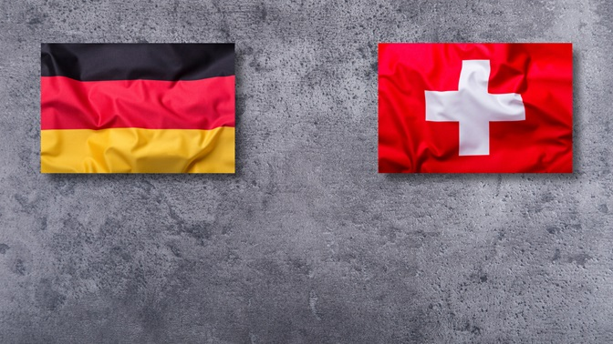 German and Swiss flag, relations between Germany and Switzerland