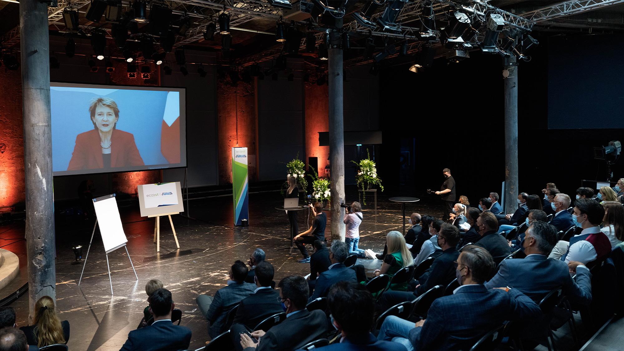 Bundesrätin Simonetta Sommaruga am EcoOst St.Gallen Symposium 2021