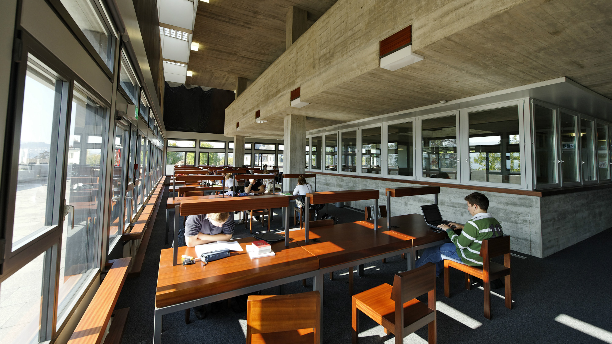 Study area at the University of St.Gallen (HSG)