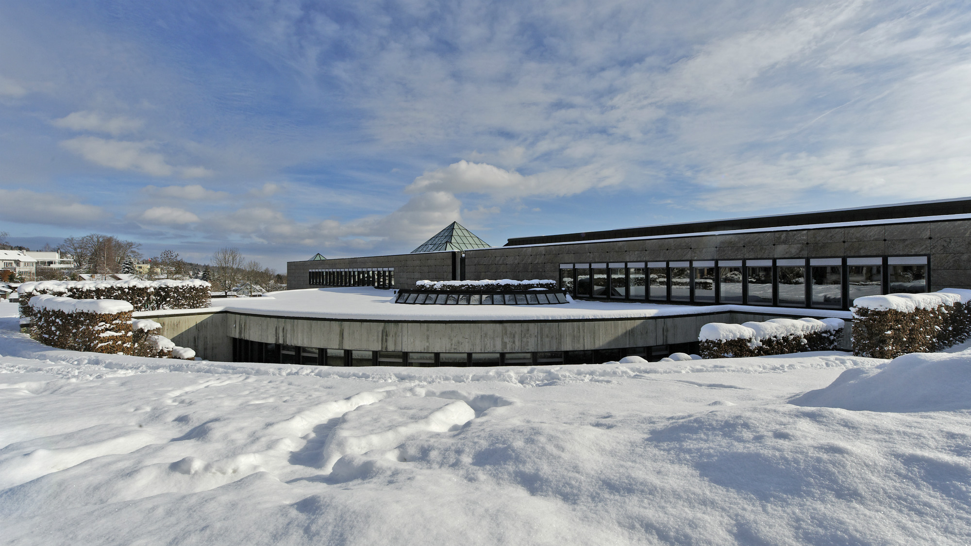 Winter wonderland at the University of St.Gallen (HSG), Library Buidling