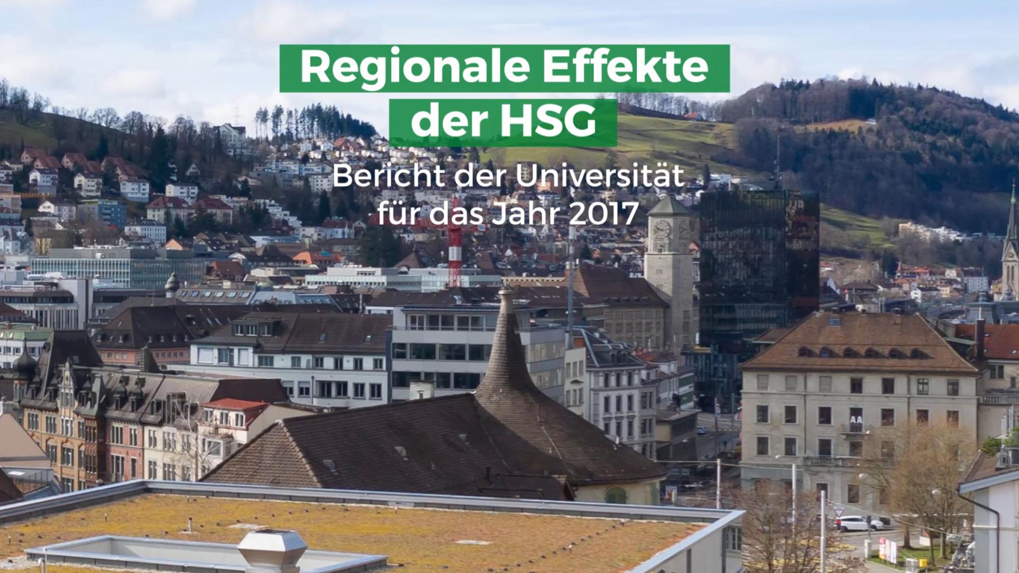 Regionale Effekte der HSG