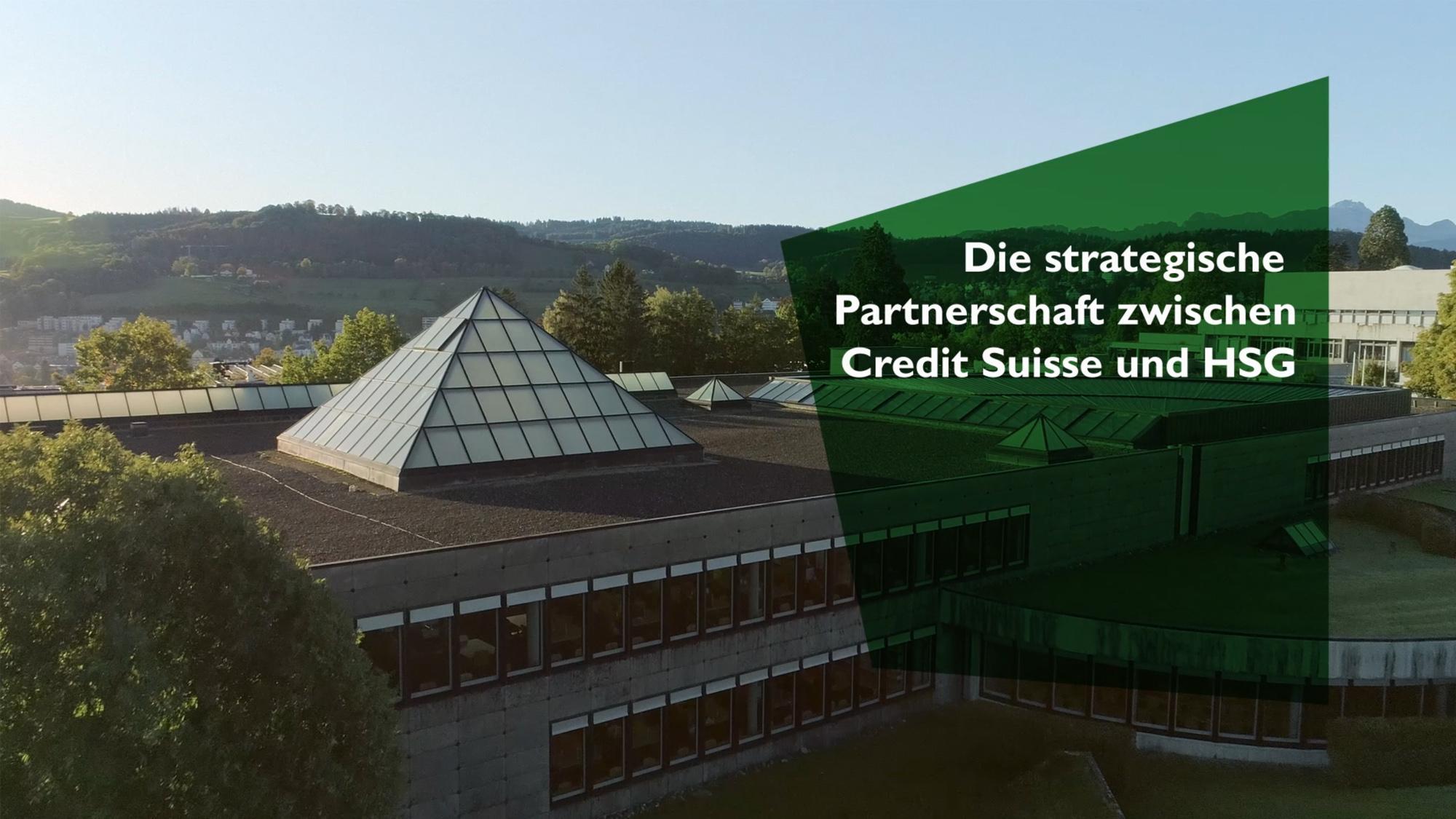 Strategische Partnerschaft zwischen Credit Suisse und HSG