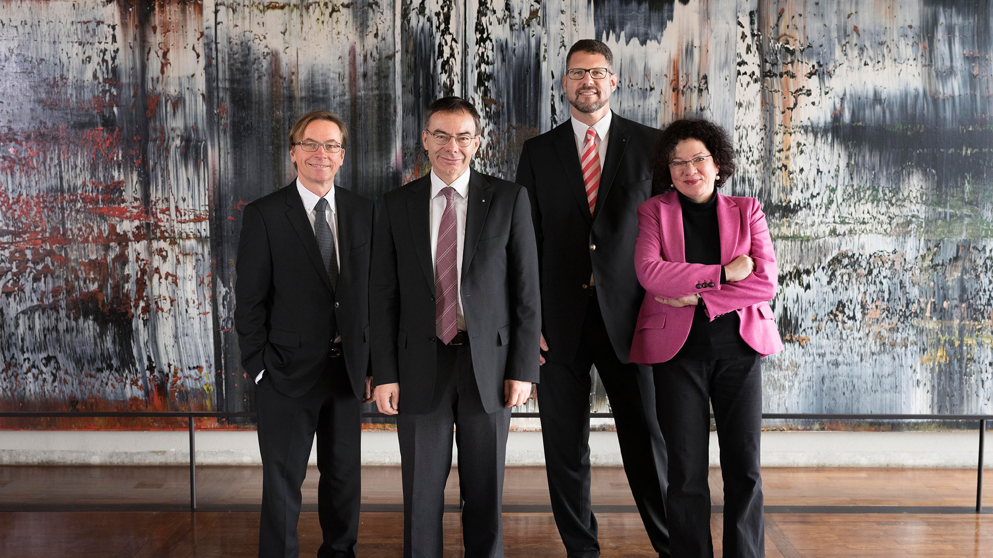 from left: Kuno Schedler, Thomas Bieger, Lukas Gschwend and Ulrike Landfester