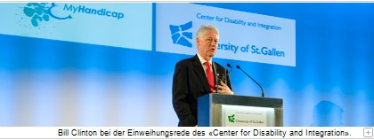Bill Clinton bei der Einweihungsrede des «Center for Disability and Integration».