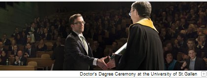 The Doctor's Degree Ceremony at the University of St.Gallen.