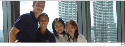 Students during their HSG Asia Term in Kuala Lumpur