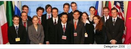 National Model United Nations Delegation 2008.