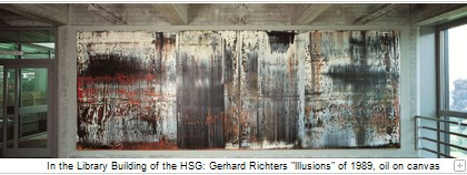 In the Library Building of the HSG is Gerhard Richters