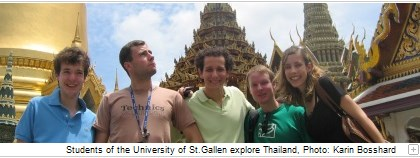 Students of the University of St.Gallen explore Thailand, Photo: Karin Bosshard.