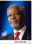 Portrait of Kofi Annan at the St.Gallen Symposium.