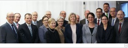 Members of the Advisory Board Law School HSG with faculty members