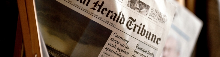 Bild der International Herald Tribune