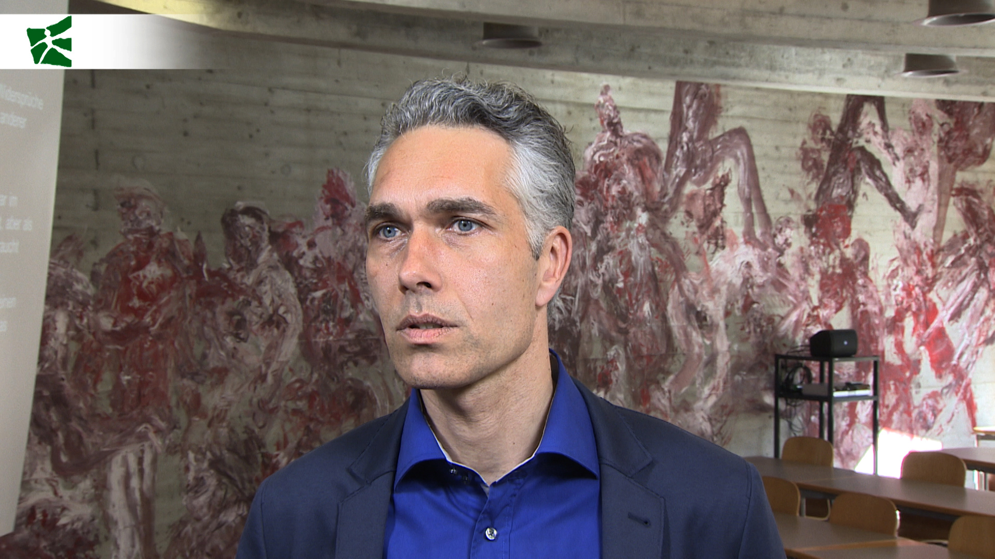 "Prof. Dr. Jörg Metelmann on the topic of the conference ""After Pop?"" in a video interview"